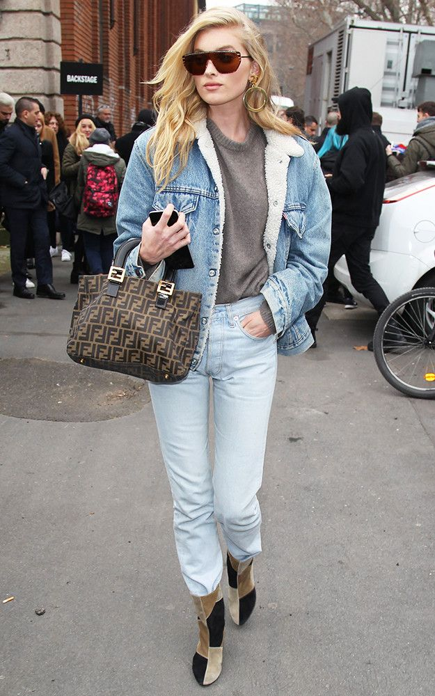 df7dbec30c31c0 Model Elsa Hosk just wore an all-denim look on the streets of NYC. See it  here.