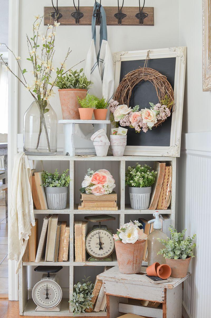 happy spring dining room home ideas farmhouse decor spring home rh pinterest com