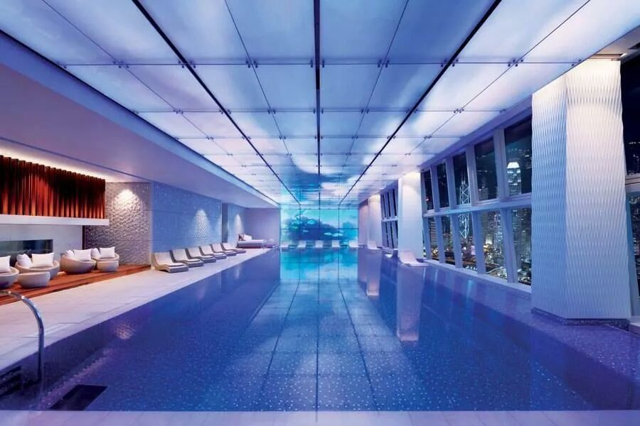 The Ritz-Carlton, Hong Kong poolside Hotel pool, Beautiful