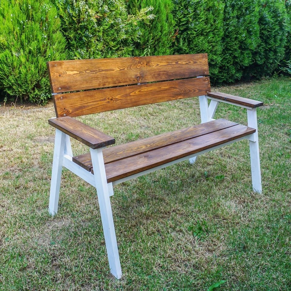 Lawka Ogrodowa Drewniana Z Oparciem 2 Osobowa Cena 250 00 Zl Gniewkowo Allegro Lokalnie Outdoor Decor Wooden Garden Benches Wooden Garden