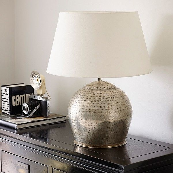 Ulah handcrafted silver plated table lamp