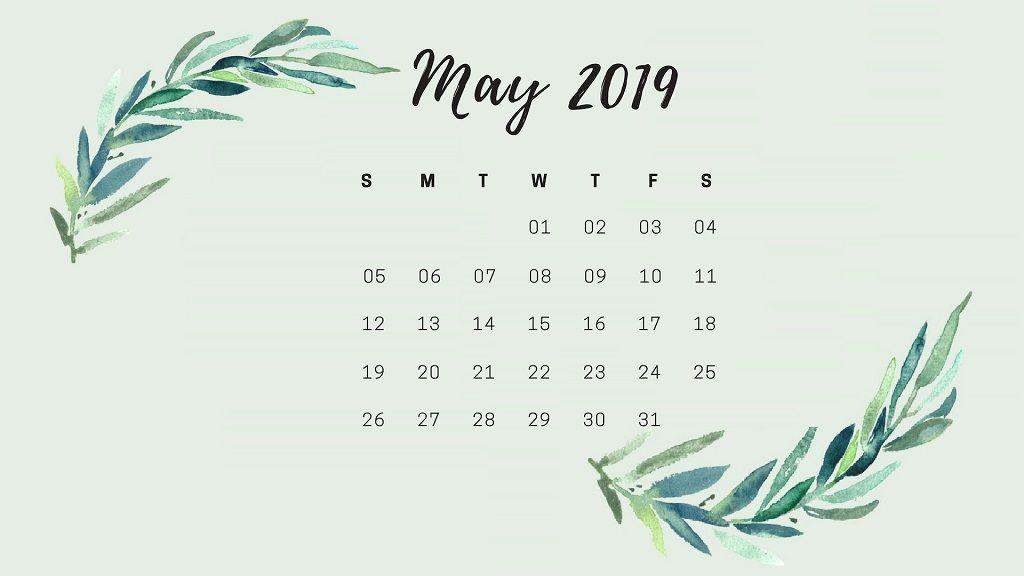 May Hd 2019 Calendar Wallpaper Calendar Wallpaper Desktop Calendar Floral Wallpaper Desktop