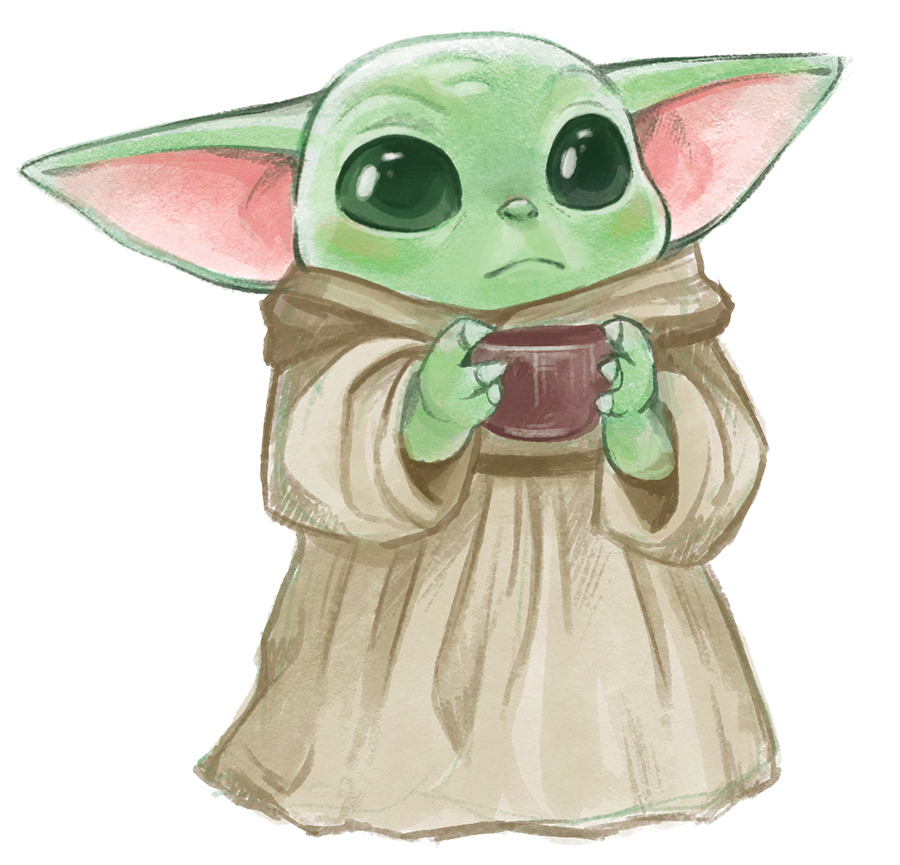 Courtney Godbey Illustration Quick Disney Drawings Sketches Cute Disney Drawings Yoda Drawing