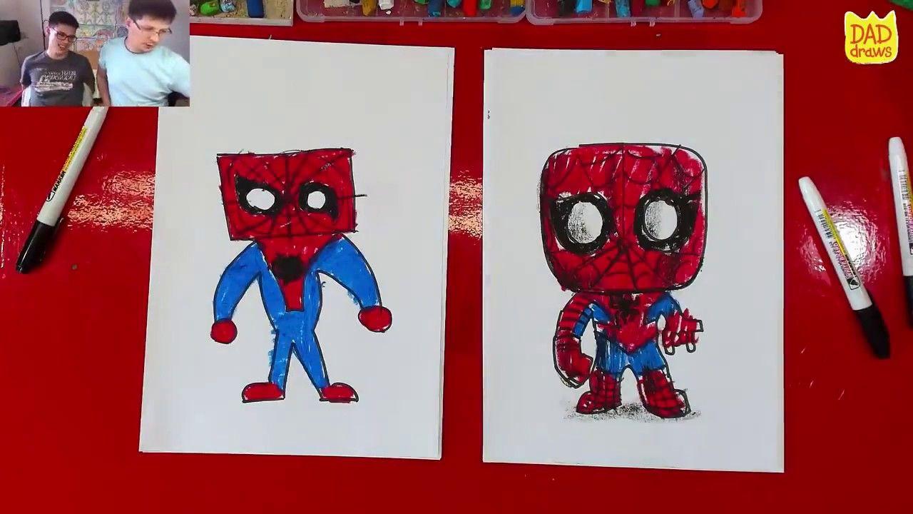 كيفية رسم تشيبي سبايدرمان الرجل العنكبوت للوطن Drawings Character Fictional Characters
