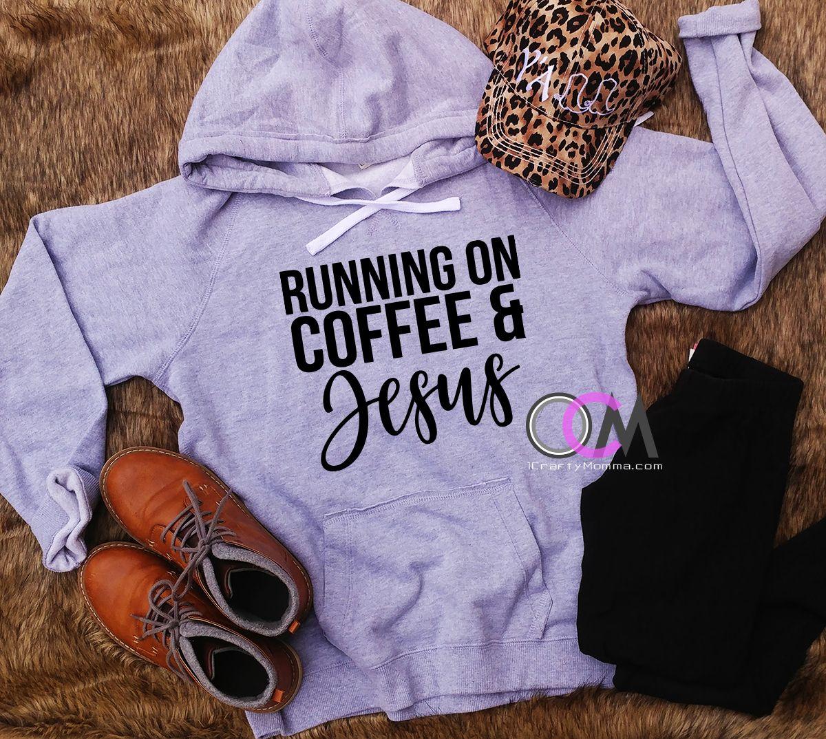 9d2f6bd8f Running on Coffee & Jesus Hoodie, Comfy Hoodie, Christian Sweatshirt,  Coffee Shirt, Fall Sweatshirt- Hoodie