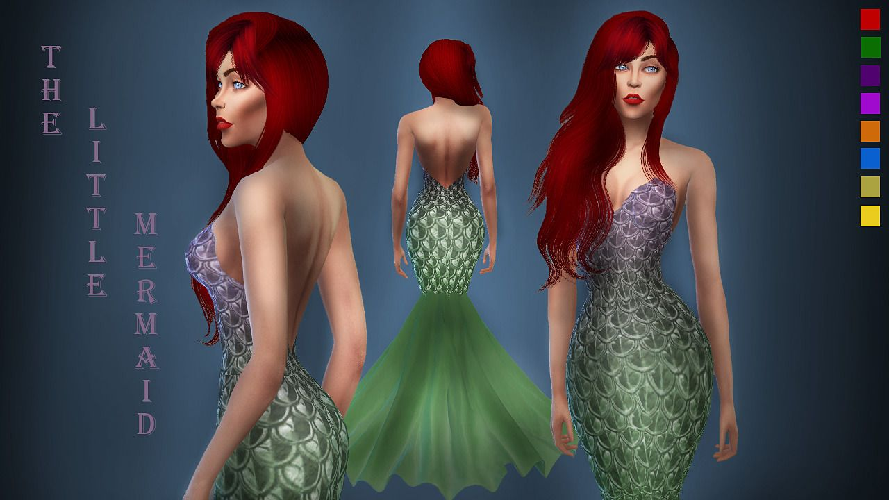 The Little Mermaid DressHere is my version of The Little