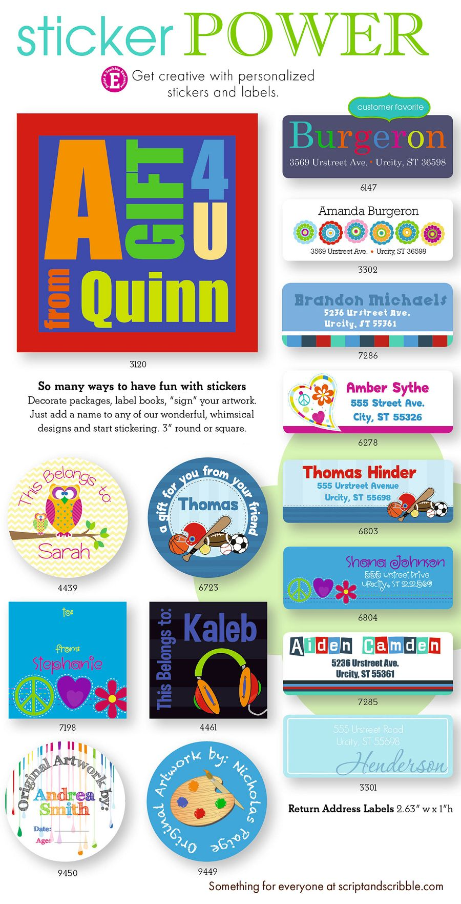 Get Creative With Personalized Gift Stickers And Address Labels Tags Are An Easy Way To Give Birthday Presents Kids