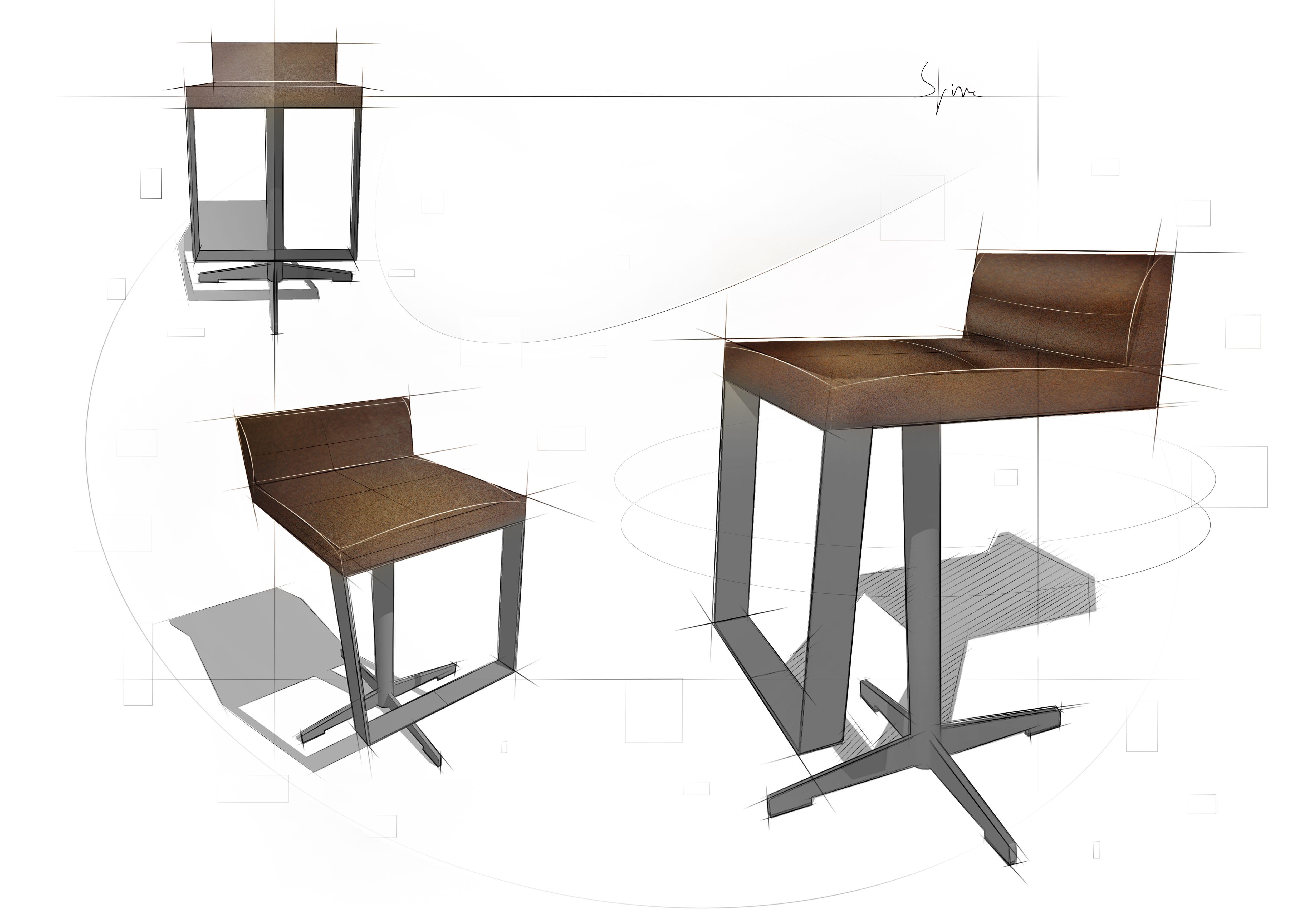 #HIGH #STOOL #DESIGN - @eginstillstudio | Concept design proposal for a high stool for a private client in Amsterdam. #Design @eginstillstudio  by #stefanospinella #stefano #spinella #spino #design #spinodesign #amsterdam #eginstill #concept