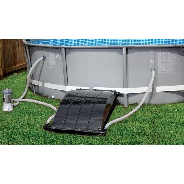 Above ground pool solar heater home improvement solar - Heated swimming pool running costs ...