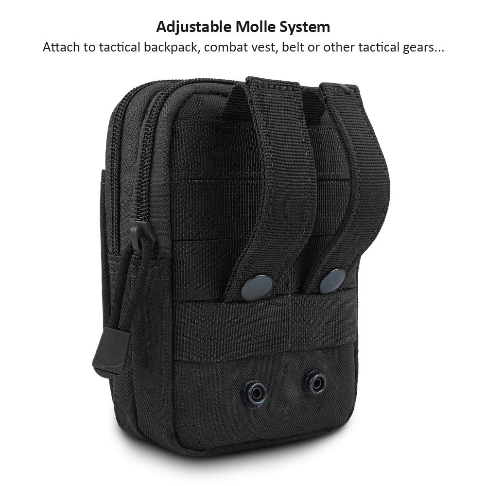 FUNANASUN Tactical Molle Pouch EDC Men Belt Waist Bag Utility Gadget Gear Tool Organizer Pocket with Cell Phone Holster Holder for for iPhone 6s//7//X Samsung S8 Pixel Moto Z Force Play
