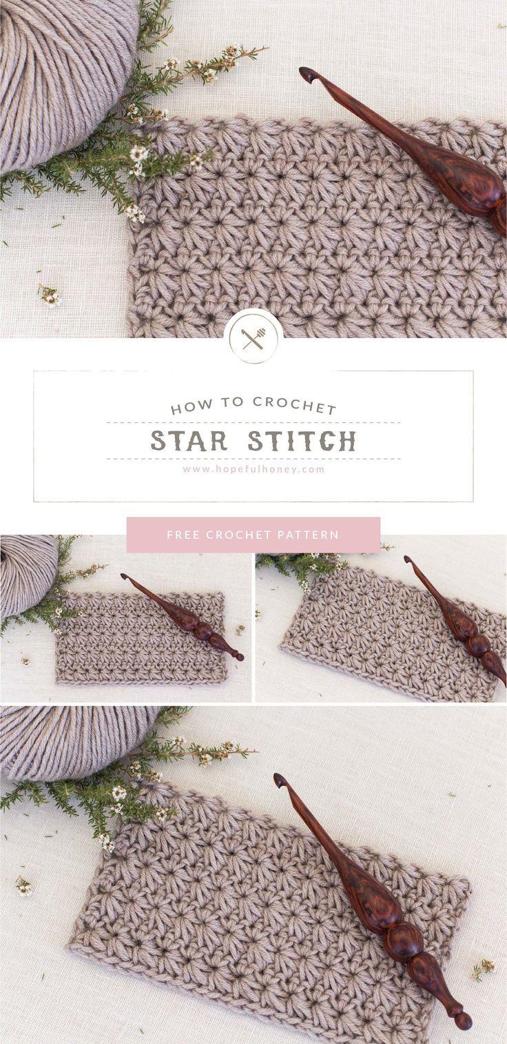 How To: Crochet The Star Stitch - Easy Tutorial - Hopeful Honey