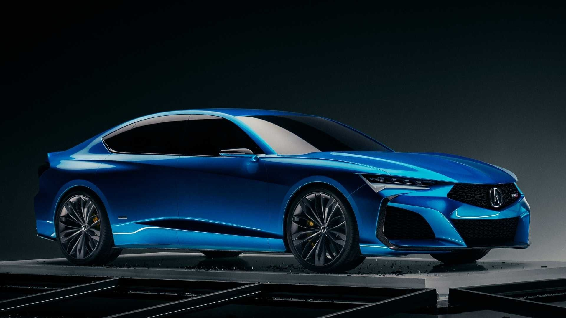 2021 Acura Pebble Seashore Mannequin Car and driver in