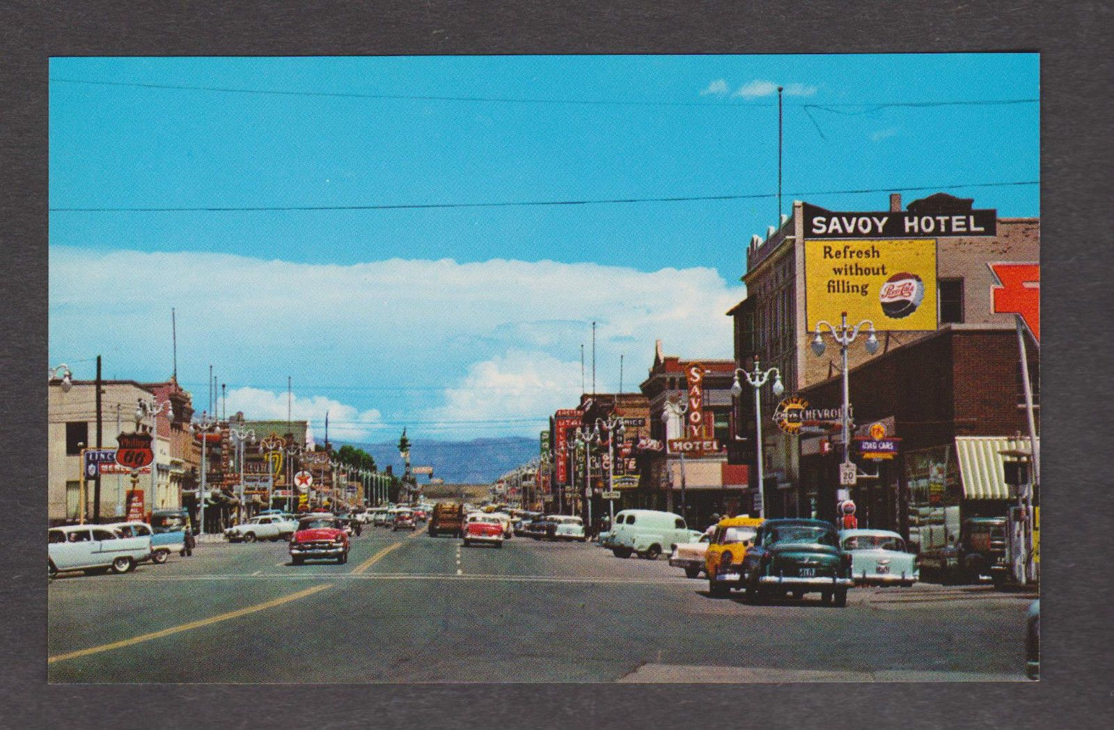 Main street looking east price utah ut savoy hotel 1958