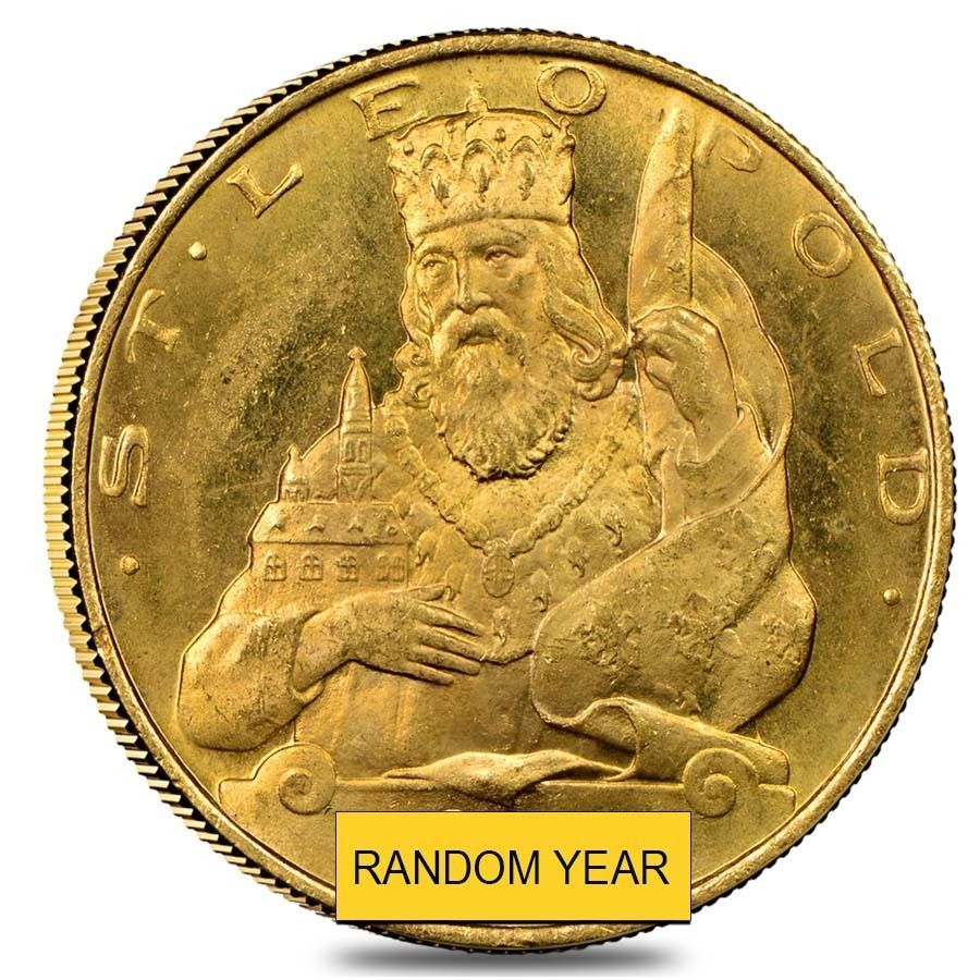 1935 1938 Austria Gold 25 Schilling Prooflike Random Year