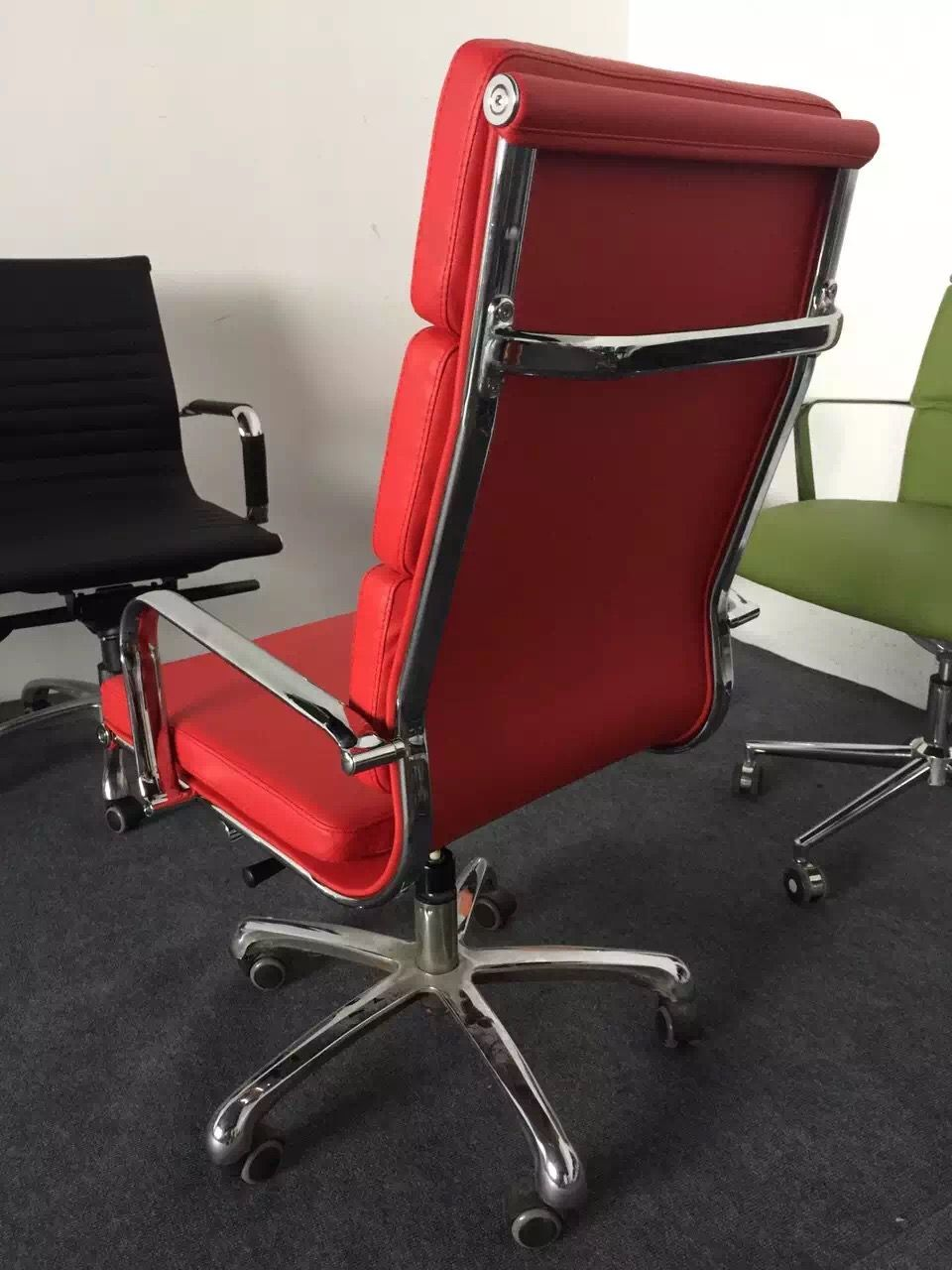 modern red eames office chair reclining red office chair ergonomic