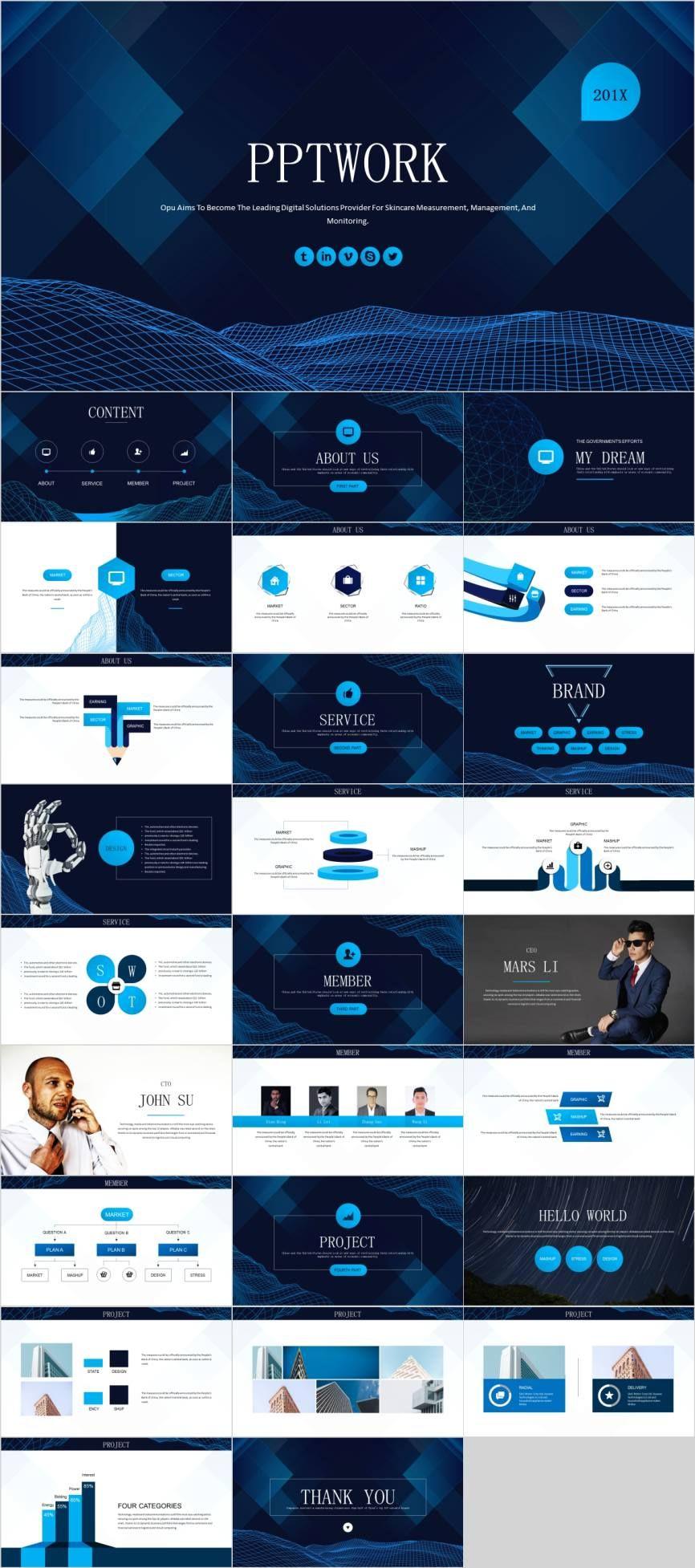 Best Blue Report Ideas Design Powerpoint Template Pcslide Com Presentation Fa Powerpoint Design Templates Powerpoint Templates Business Powerpoint Templates