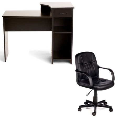 Desk And Chair Set Mainstays Student Desk Andcomfort Products 60 5607m Mid Back Leather Office Chair Multiple Colors Desk Chair Set Student Desks Chair