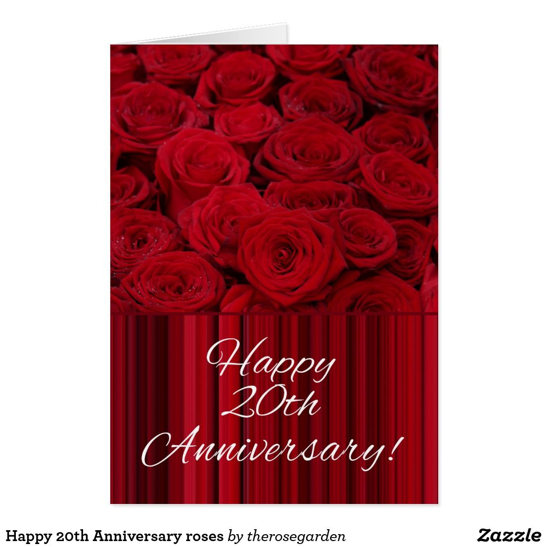 Happy 20th Anniversary roses Card | Shared board for greeting cards ...