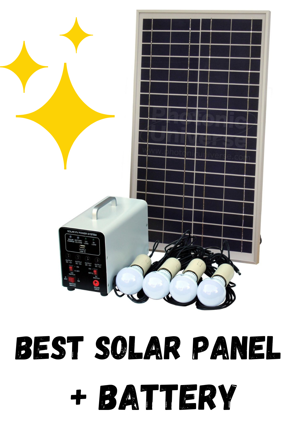 25w Off Grid Solar Lighting System With 4 Led Lights Solar Panel And Battery In 2020 Solar Lights Solar Panels Solar Energy Panels
