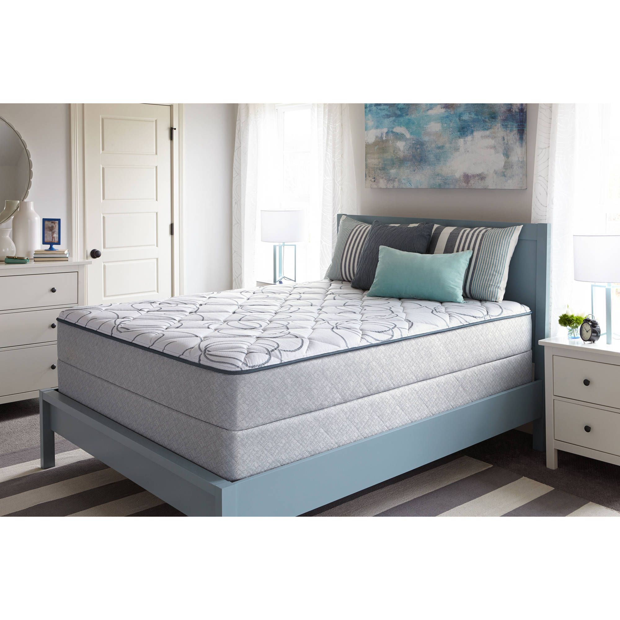 Sealy Faux Euro Top Cathcart Mattress, Plush, Multiple