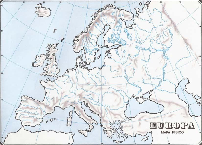 Mapa Mudo Fisico Europa Pdf.Resultado De Imagen De Mapa Fisico De Europa Para Imprimir