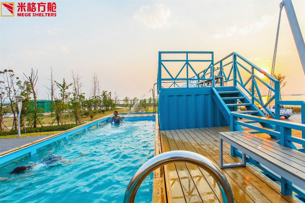 Container swimming pool and bar, View container swimming ...