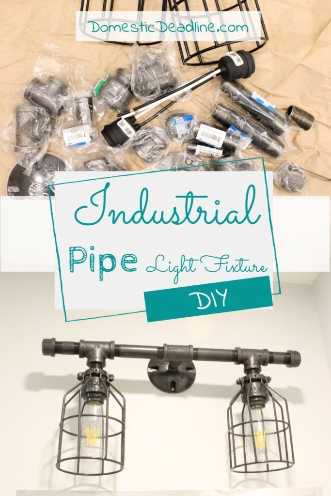 Photo of Learn how to use gas pipes to build an industrial farmhouse light fixture. Gas p…