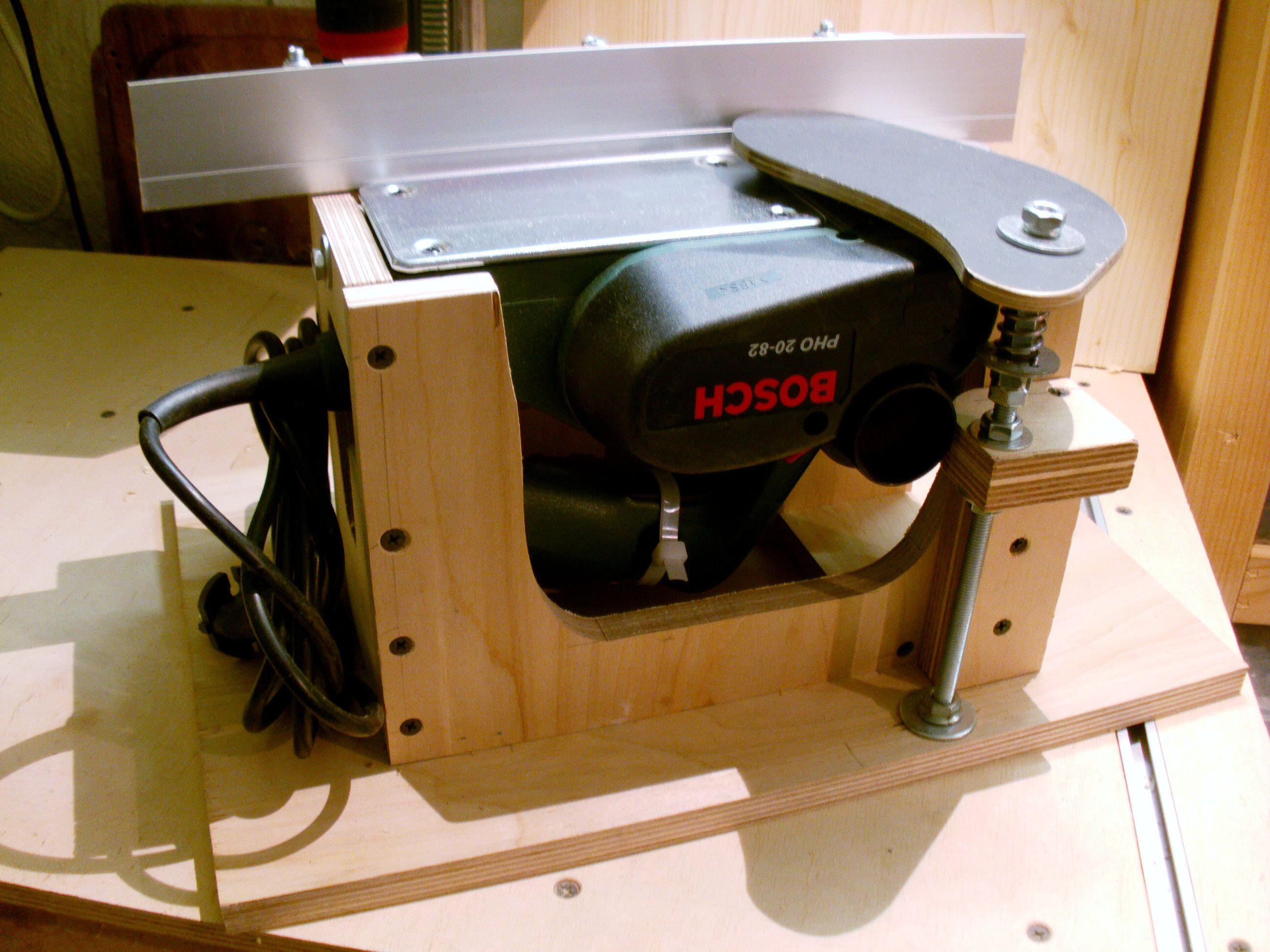 abrichthobelvorrichtung bauanleitung zum selber bauen projekte pinterest. Black Bedroom Furniture Sets. Home Design Ideas