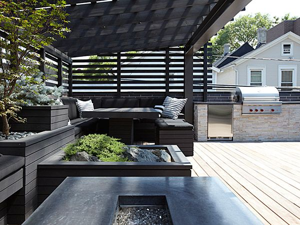 Delightful Chicago Modern House Design   Amazing Rooftop Patio | Modern House Designs