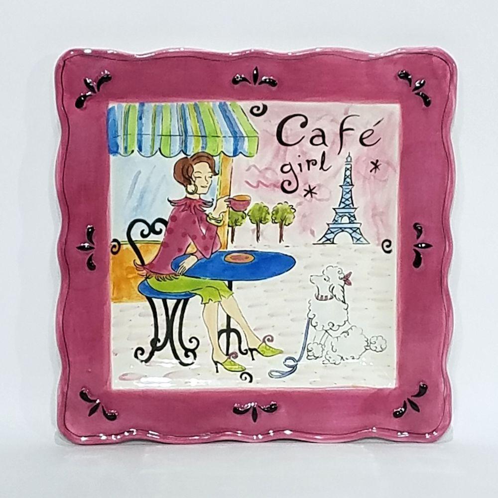 Jennifer Brinley Cafe Girl Dinner Plate 11 5 Girlfriends