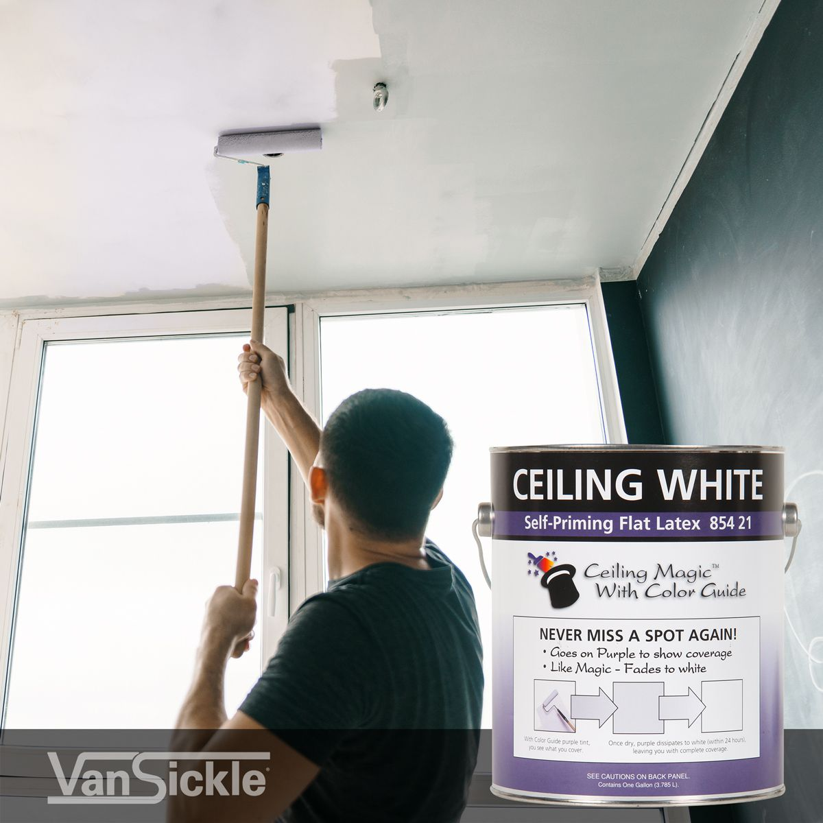 One Of Our Unique Coatings Is Ceiling Magic With Color Guide It Is A Color Changing Ceiling Paint Painted Ceiling Color Ceiling