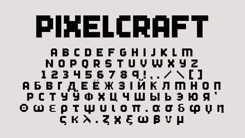 Minecraft Font Alternate Style | Minecraft Font Download
