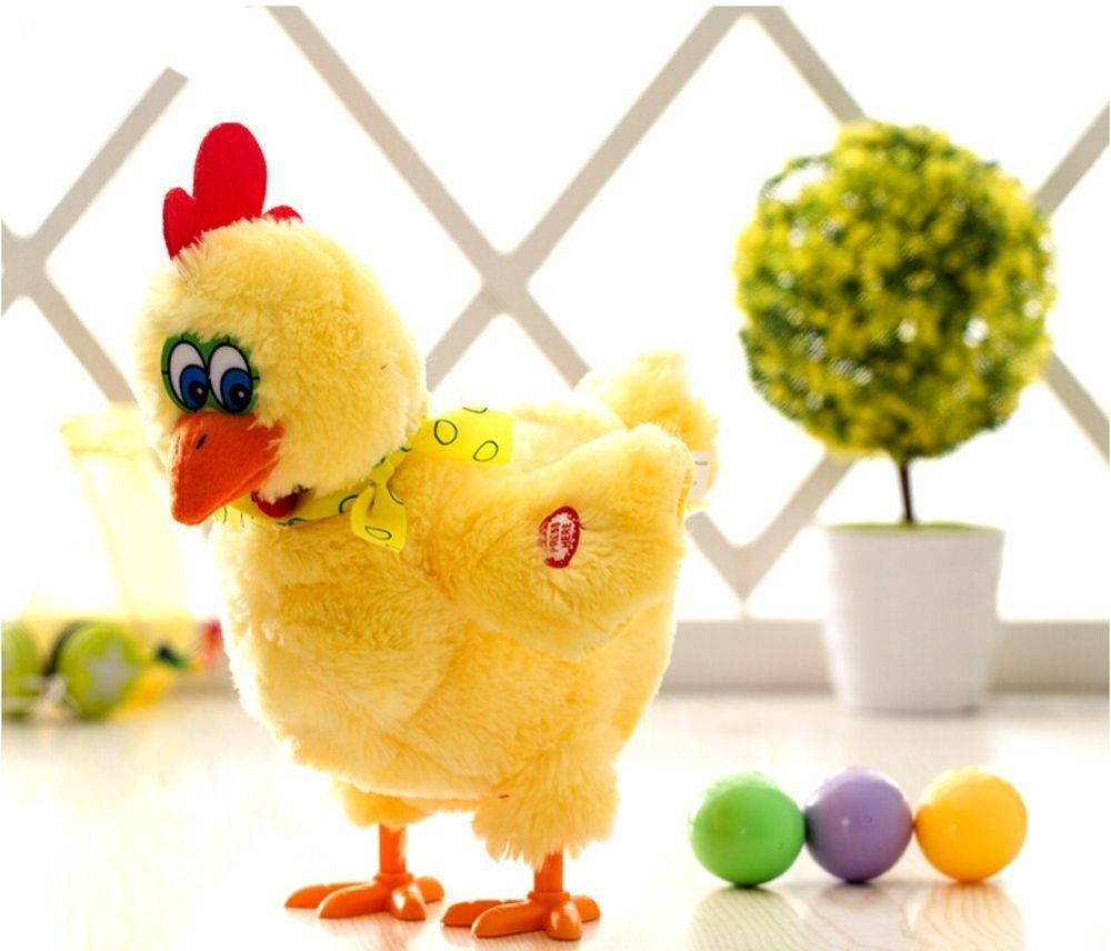 Children Kids Chicken Toy Trick Game Funny Hen Laying Egg Gadget Stuffed Animal