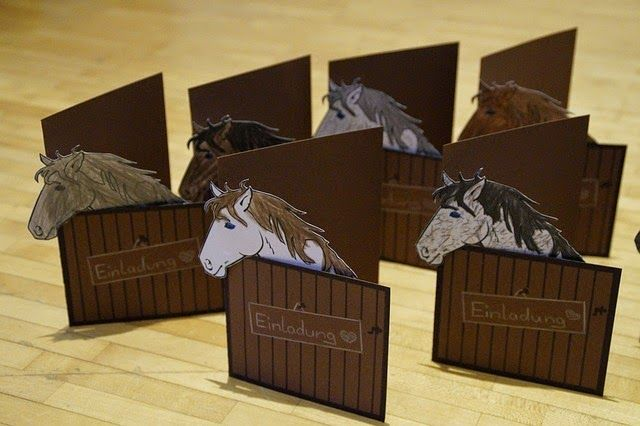 einladungskarten mit pferden | peri geburtstag | pinterest, Einladungsentwurf