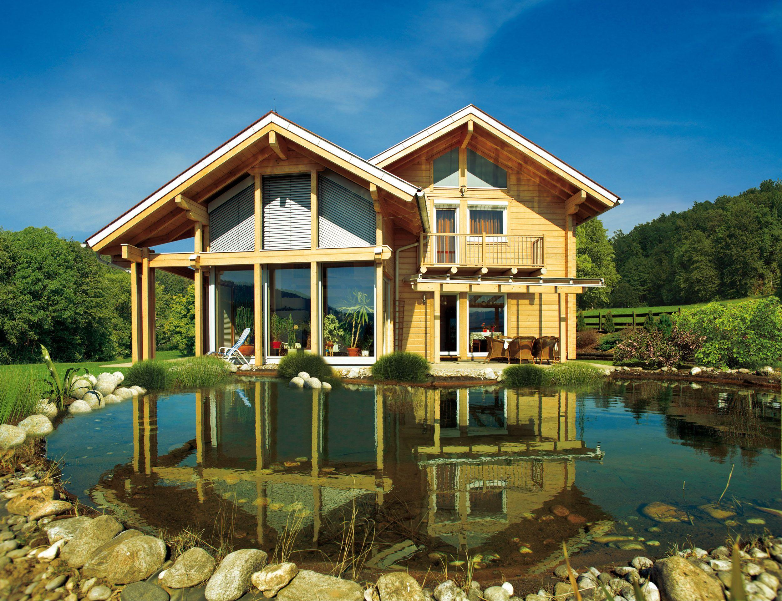 ELK Blockhaus 247 Style at home, Haus bauen, Haus