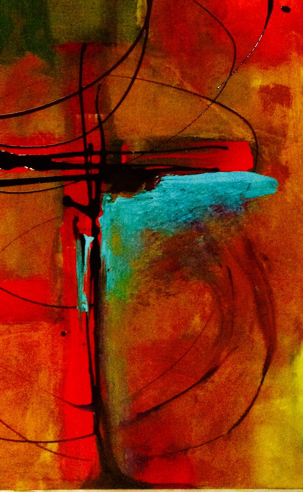Abstract painting of cross. Oil on canvas. Painted by Shirley ...