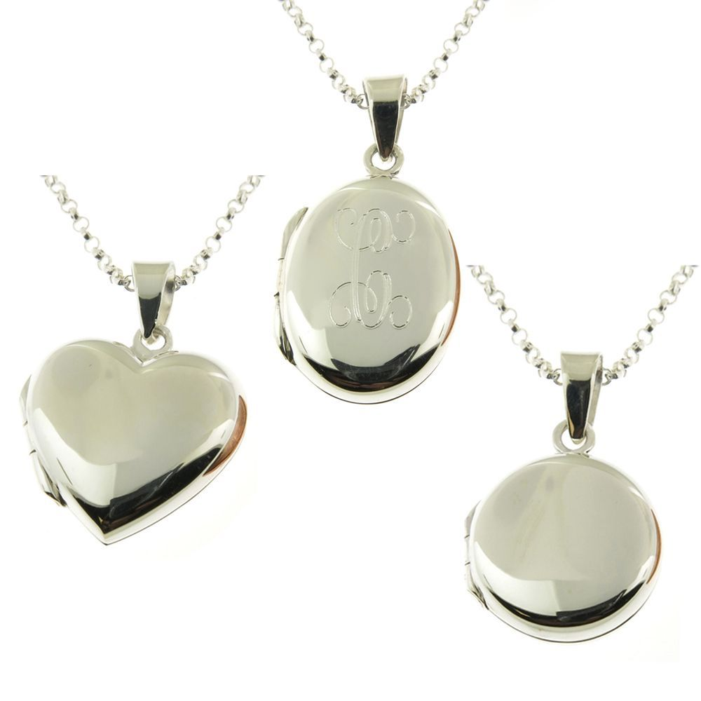 aff6670c91fd7 Handmade Sterling Silver Personalized Oval Locket Necklace (Thailand) (Y)