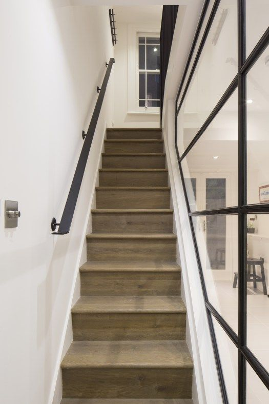 Home Decor 101: Steel Frame Windows   Glass stairs, Stair ...