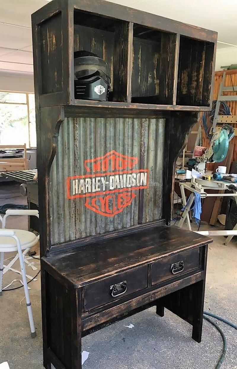 Wood pallet kitchen cabinet woodworking in pinterest
