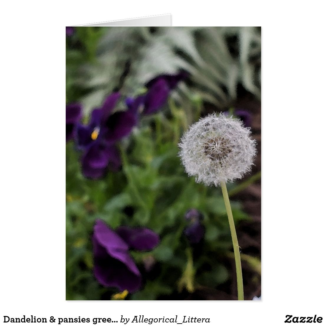 Dandelion pansies greeting card blank inside card for your own dandelion pansies greeting card blank inside card for your own message suitable for kristyandbryce Images