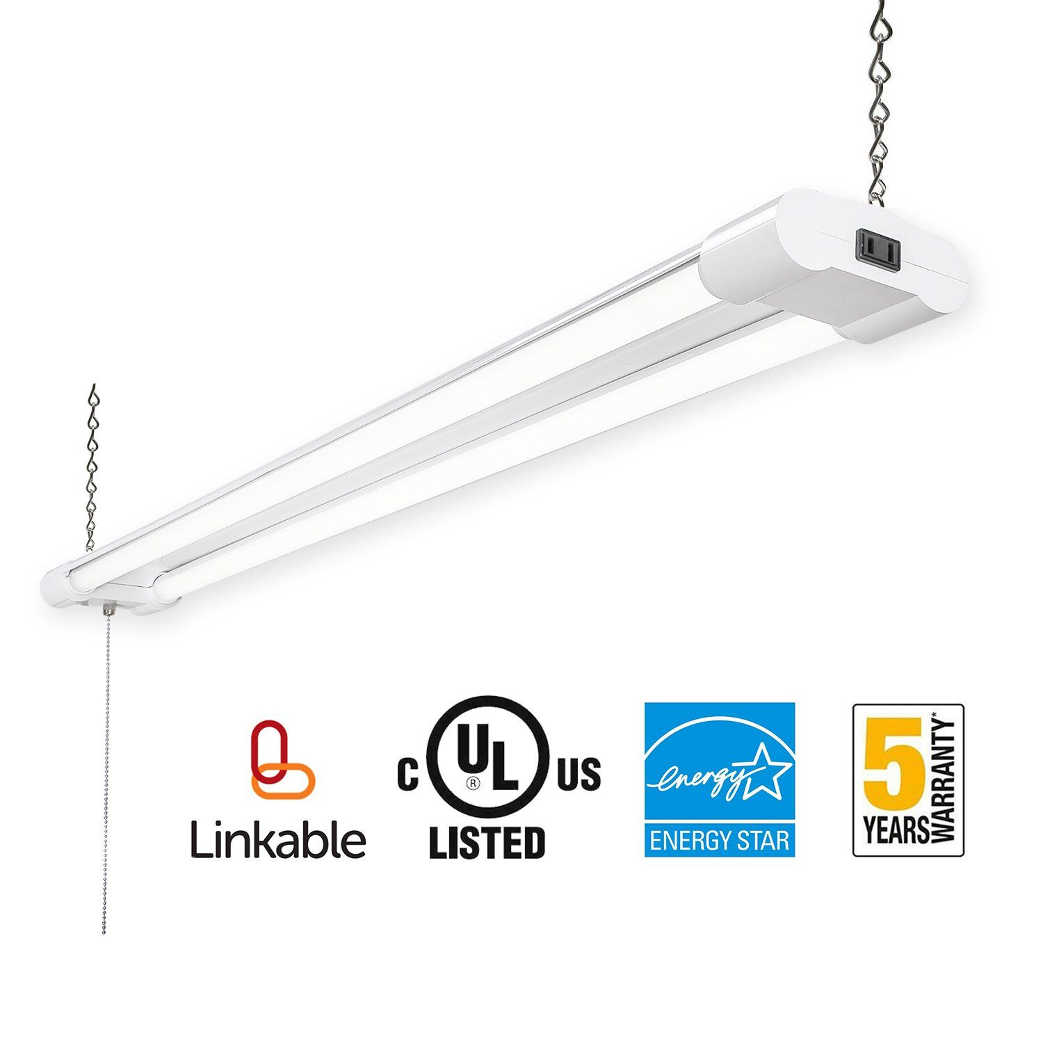 Amico linkable led utility shop light4ft integrated double fixture amico linkable led utility shop light4ft integrated double fixture40w100w arubaitofo Choice Image