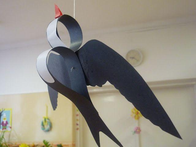 Moldes swallow bird paper craft