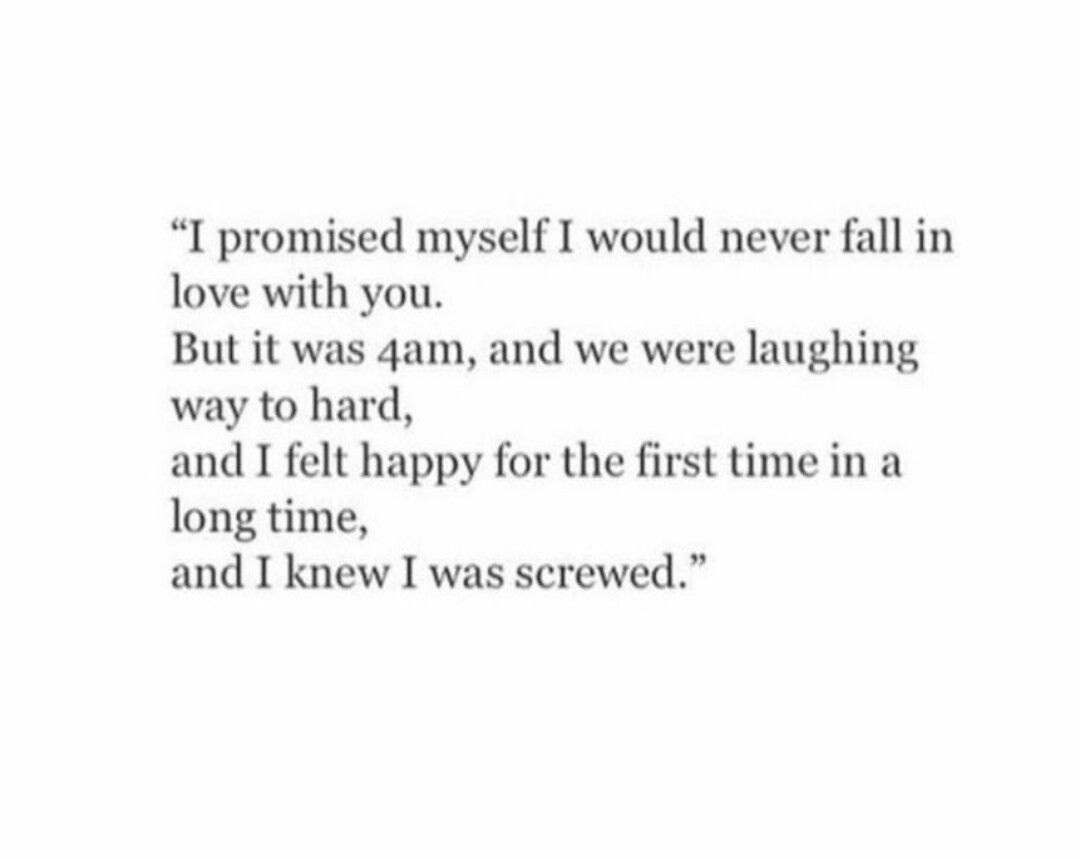 I Promised Myself Not To Fall Im Love Again But Ughh It Was