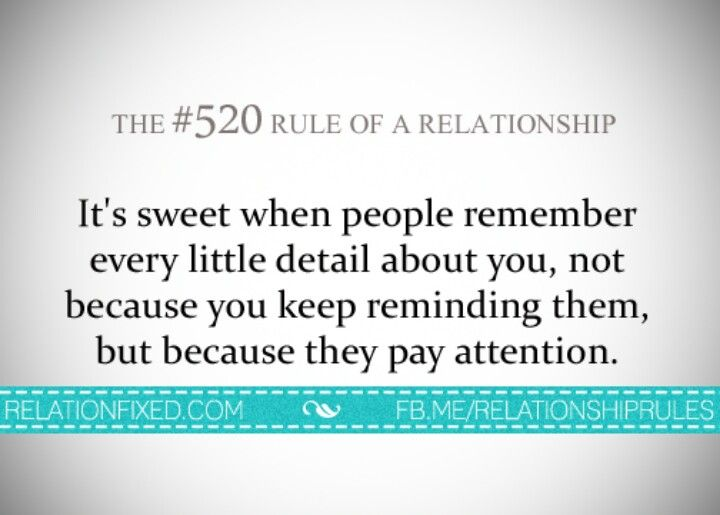 Rules to remember when dating