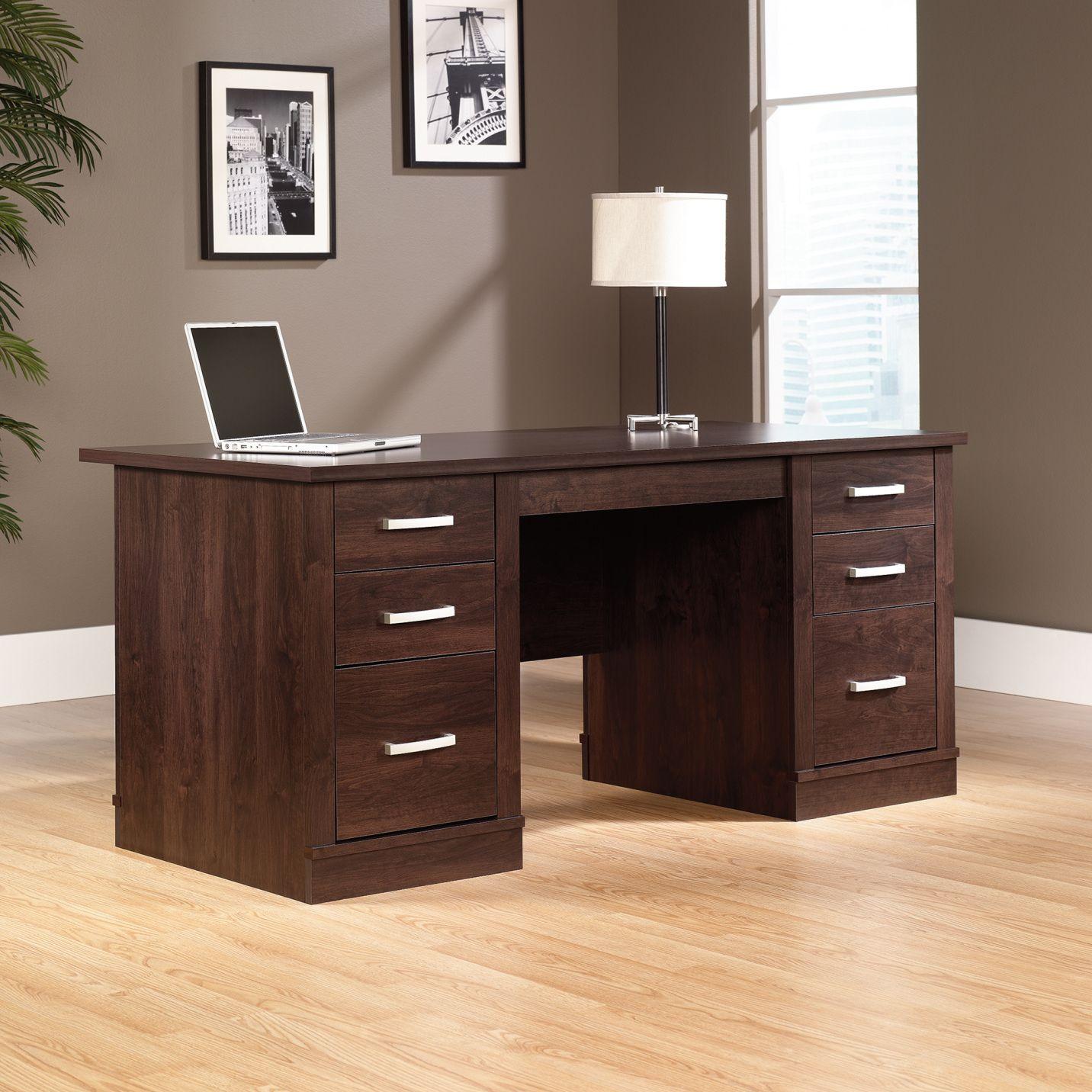 Sauder Office Port Executive Desk Contemporary Home