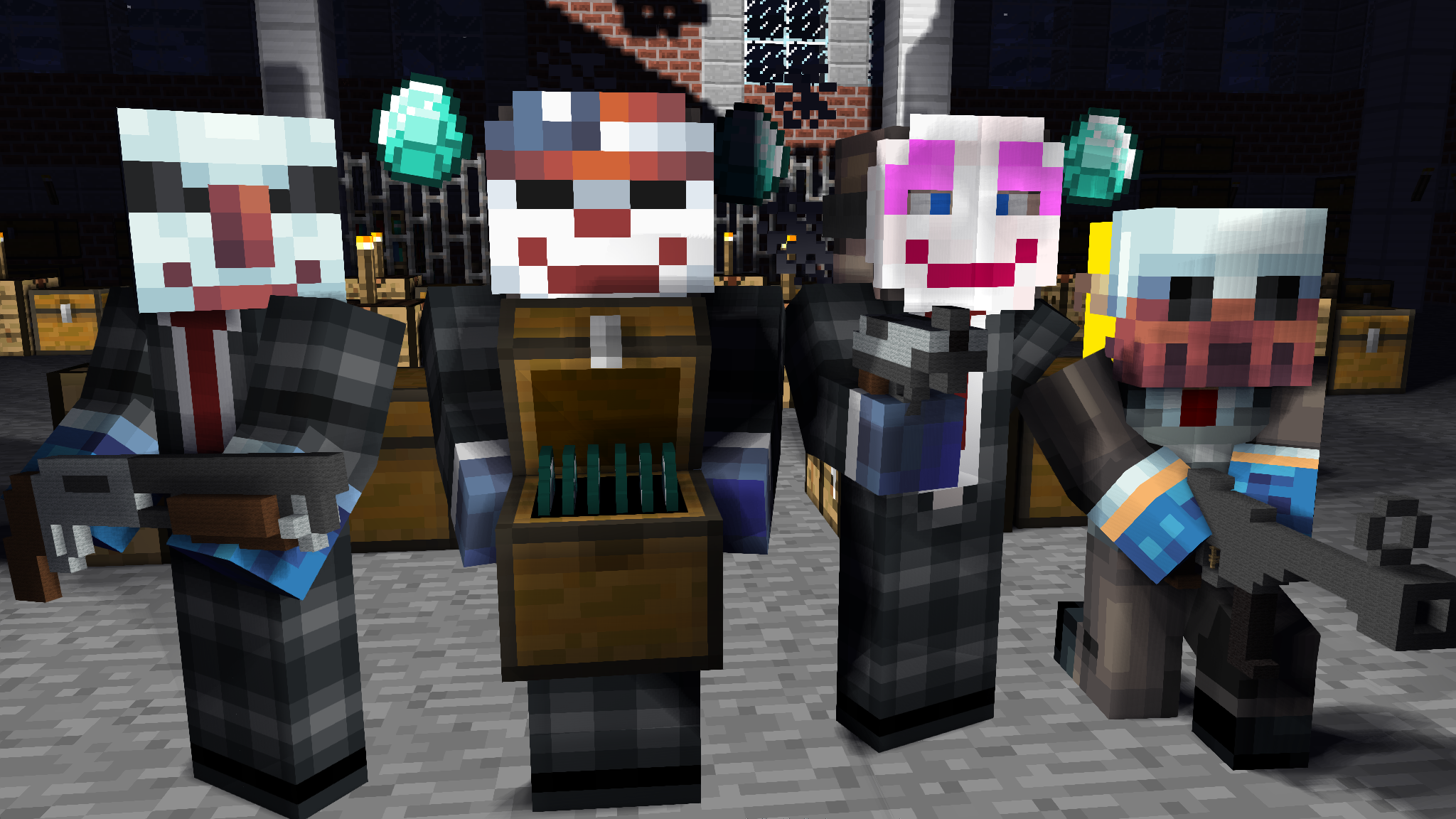 Minecraft PayDay 2 | play on | Pinterest | Maid, Payday 2