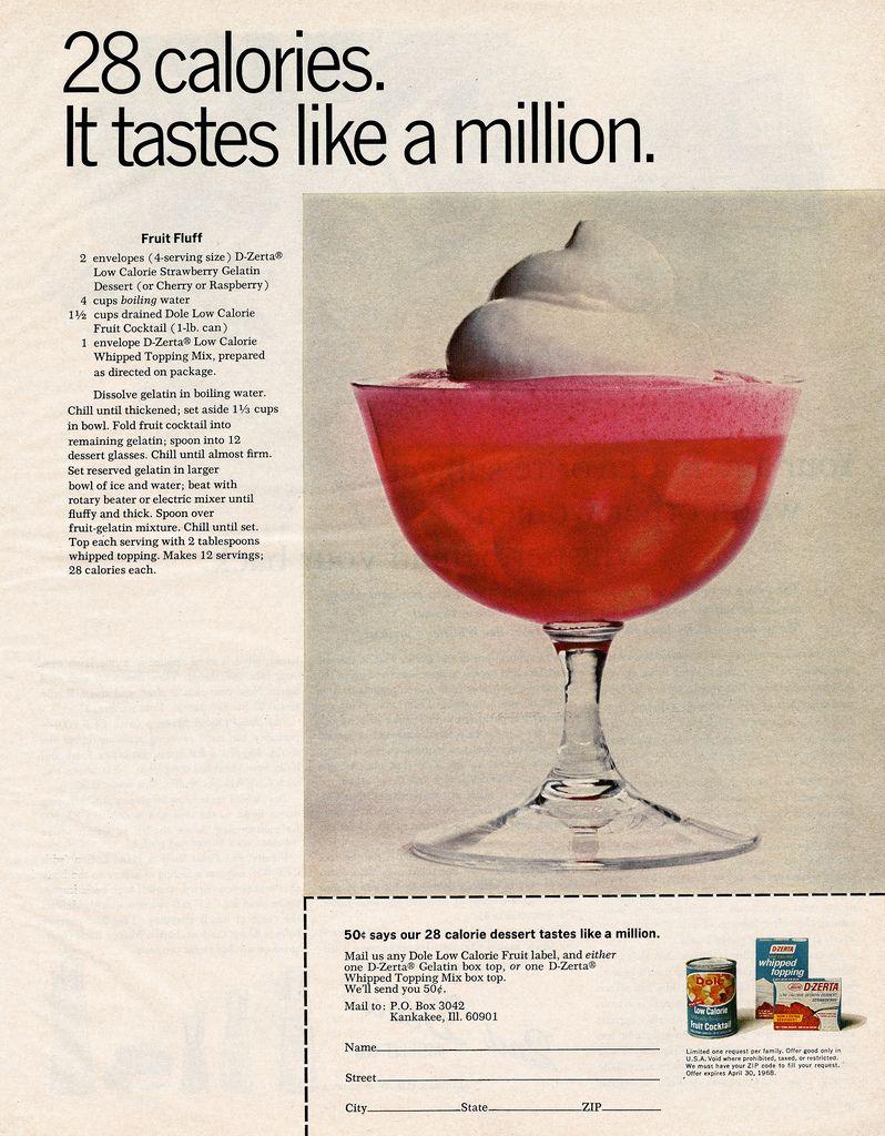 D Zerta Jello Coupon Low Calorie Fruits Fruit Cocktails Vintage Recipes