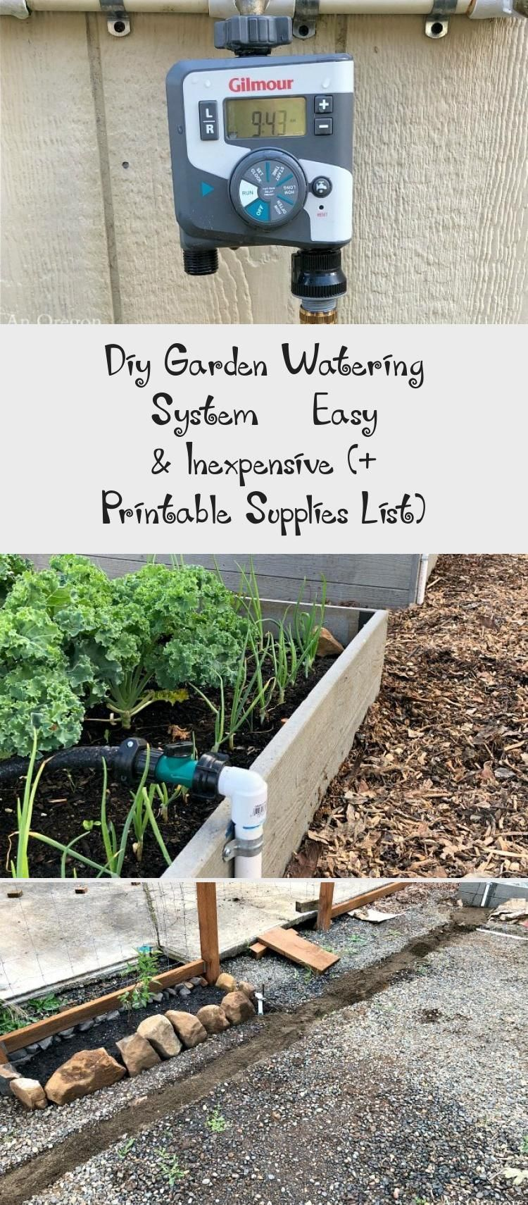 We are LOVING this easy DIY automatic garden watering system for our raised vegeautomatic
