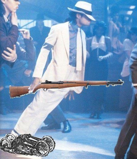 Michael Jackson demonstrating the proper use of treadle skates. ALMOST good ideas.