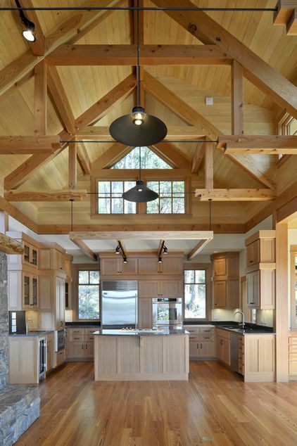 Learn The Language Of Trusses In Design Attic Rooms Contemporary Kitchen House